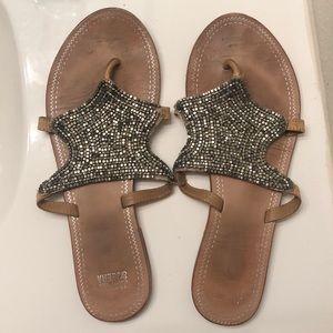 Beaded Jasper & Jeera sandals